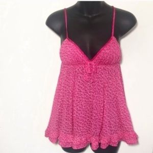 Victoria's Secret Heart Pink Negligee Babydoll